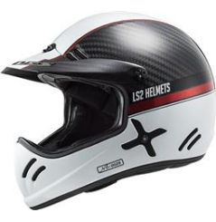 Casque Cross LS2 Xtra Yard Carbone Blanc Rouge
