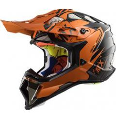 Casque Cross LS2 Subverter Emperor Orange et Noir