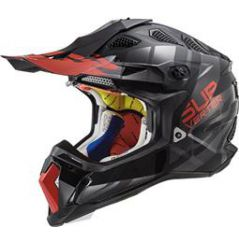 Casque Cross LS2 Subverter Troop Noir et Rouge