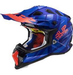 Casque Cross LS2 Subverter Troop Bleu et Orange