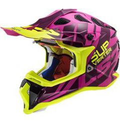 Casque Cross LS2 Subverter Troop Rose et Jaune
