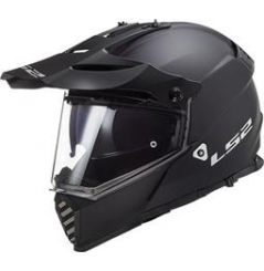 Casque Cross LS2 Pioneer Evo Solid Noir mat