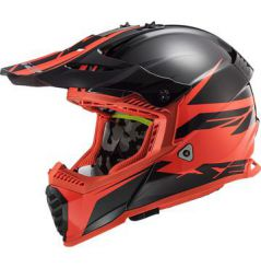 Casque Cross LS2 Fast Evo Roar Rouge