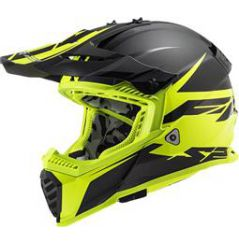 Casque Cross LS2 Fast Evo Roar Jaune
