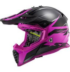 Casque Cross LS2 Fast Evo Roar Violet