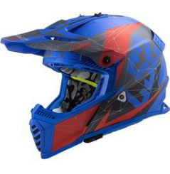 Casque Cross LS2 Fast Evo Alpha Bleu mat