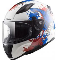 Casque Enfant LS2 Rapid Mini Monster Bleu Blanc Rouge