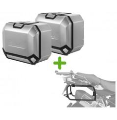 Pack Valises Latérales Terra + Support 4P System pour Motoguzzi V85TT (19-20)
