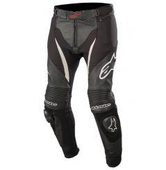 Pantalon Alpinestars SP X Cuir et Textile, Noir et Blanc