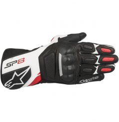 Gants moto cuir SP-8 V2 Alpinestars - Noir, Blanc, Rouge