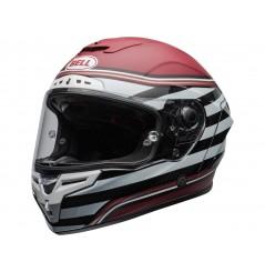 Casque Moto BELL RACE STAR FLEX SURGE Noir - Blanc - Rouge