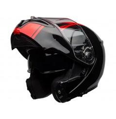 Casque Moto Modulable BELL SRT MODULAR RIBBON Noir - Rouge 2020