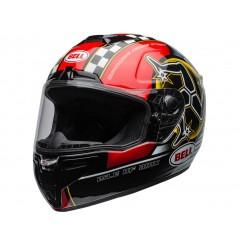 Casque Moto BELL SRT ISLE OF MAN Noir - Rouge 2021