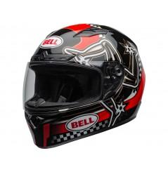 Casque Moto BELL QUALIFIER DLX MIPS ISLE OF MAN Noir - Blanc - Rouge 2020