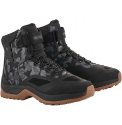 Chaussures moto Alpinestars CR-6 Drystar Riding - Camo Gris