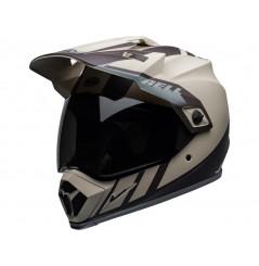 Casque Moto Cross BELL MX-9 ADVENTURE MIPS DASH Beige - Brun - Gris 2020