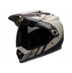 Casque Moto Cross BELL MX-9 ADVENTURE MIPS DASH Beige - Brun - Gris 2021