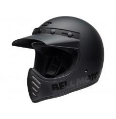 Casque Moto Cross BELL MOTO 3 BLACKOUT Noir Mat 2020