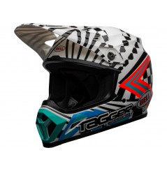 Casque Moto Cross BELL MX-9 MIPS TAGGER CHECK ME OUT Noir - Blanc 2020