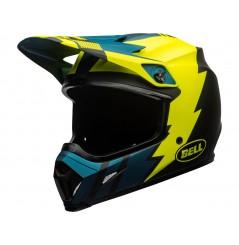 Casque Moto Cross BELL MX-9 MIPS STRIKE Bleu - Jaune 2020