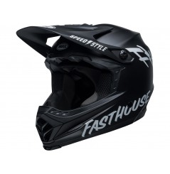 Casque Moto Cross Enfant BELL MOTO-9 YOUTH FASTHOUSE Noir Mat - Blanc 2021