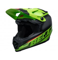 Casque Moto Cross Enfant BELL MOTO-9 YOUTH GLORY Noir Mat - Vert 2020