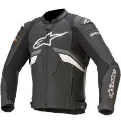 Blouson Moto Cuir Alpinestars GP PLUS R v3 - Noir & Gris