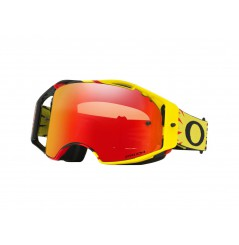 Masque Moto Cross OAKLEY AIRBRAKE MX HIGH VOLTAGE Jaune - Rouge 2020