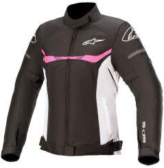 Blouson moto Femme Alpinestars T-SPS Waterproof - Noir Blanc & Rose