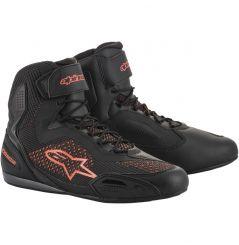 Chaussures moto Alpinestars Faster-3 Rideknit - Noir & Rouge
