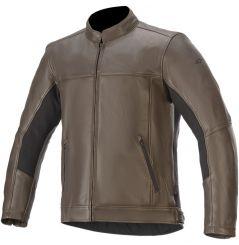 Blouson moto Cuir Alpinestars Topanga - Marron
