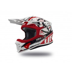 Casque Moto Cross UFO INTREPID Blanc - Rouge - Noir 2020