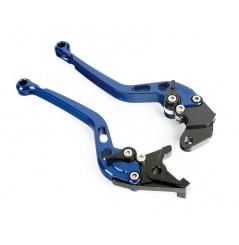 Leviers Frein + Embrayage Moto Bleu Taillé Masse pour Suzuki