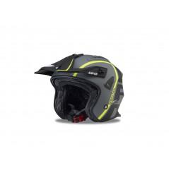 Casque Moto Cross UFO JET SHERATAN Noir - Gris - Jaune 2020