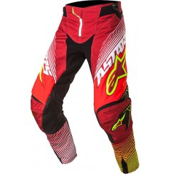 Pantalon Cross ALPINESTARS TECHSTAR FACTORY Rouge - Blanc - Jaune Taille US 38