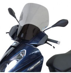 Bulle Haute Protection Scooter VParts pour Piaggio 125 X7 (08-09) 250 X7 (08-09)