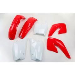 Kit Plastique UFO pour Moto Honda CR125 R (00-01) CR250 R (00-01)  - Couleur Origine
