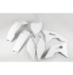 Kit Plastique UFO pour Moto Honda CRF250 R (18-21) CRF450 R (17-20) - Couleur Blanc