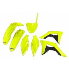 Kit Plastique UFO pour Moto Honda CRF250 R (18-21) CRF450 R (17-20) - Couleur Jaune fluo