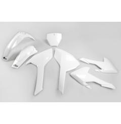 Kit Plastique UFO pour Moto Husqvarna TC125 (16-18) TC250 (16-18) | Couleur Origine 17-18