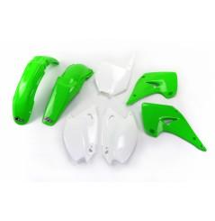 Kit Plastique UFO pour Moto Kawasaki KX125 (03-04) KX250 (03-04) - Couleur Origine