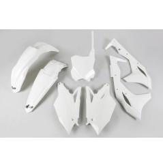 Kit Plastique UFO pour Moto Kawasaki KX250 F (17-20) - Couleur Blanc