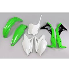 Kit Plastique UFO pour Moto Kawasaki KX250 F (17-20) - Couleur Origine