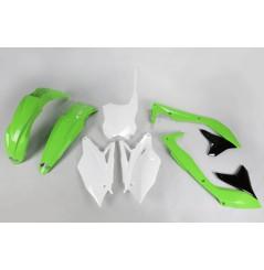 Kit Plastique UFO pour Moto Kawasaki KX450 F (16-18) - Couleur Origine