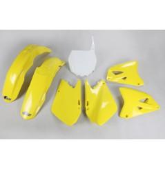 Kit Plastique UFO pour Moto Suzuki RM125 (01-02) RM250 (01-02) - Couleur Origine