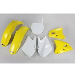 Kit Plastique UFO pour Moto Suzuki RM125 (03-05) RM250 (03-05) - Couleur origine