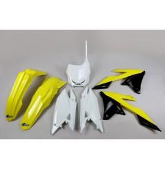 Kit Plastique UFO pour Moto Suzuki RMZ250 (19-20) RMZ450 (18-20) - Couleur Origine