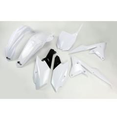 Kit Plastique UFO pour Moto Yamaha YZ250 F (14-18) YZ450 F (14-17) - Couleur Blanc
