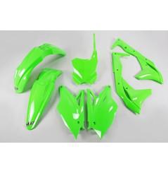 Kit Plastique UFO pour Moto Kawasaki KX250 F (17-20) - Couleur Vert fluo