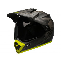 Casque Moto Cross BELL MX-9 ADVENTURE MIPS STEALTH CAMO Noir Mat - Jaune 2021